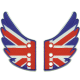 "Ailettes Shwings ""UK Flag"" : drapeau Royaume-Uni"