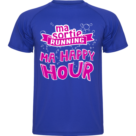 T-Shirt running homme : Ma sortie running, ma happy hour