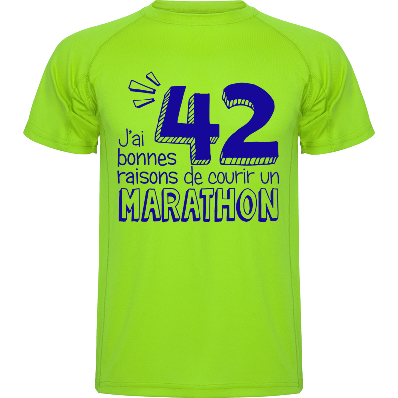 t shirt running j 39 ai 42 bonnes raisons de courir un marathon. Black Bedroom Furniture Sets. Home Design Ideas
