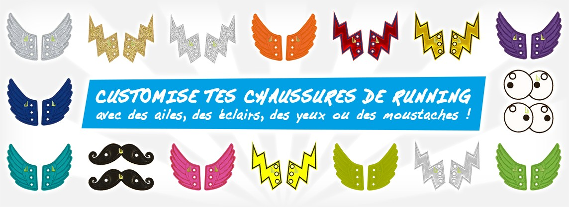 Customise tes chaussures de running avec les Shwings !