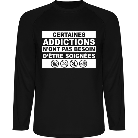 T-Shirt Technique Funisher Running Addictions Manches Longues