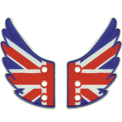 "Ailettes Shwings ""UK Flag"""