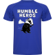 T-Shirt Running Homme : Humble Héros (Rouge)