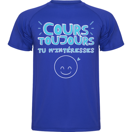 T-Shirt running homme : Cours toujours, tu m'intéresses !