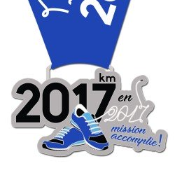 Médaille 2017km en 2017 : Mission Accomplie