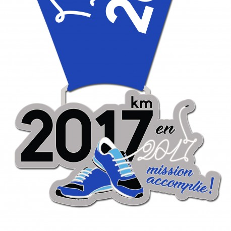 Médaille 2017 km en 2017 : Mission Accomplie