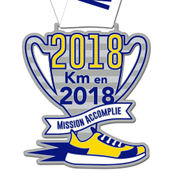Médaille 2018km en 2018 : Mission Accomplie