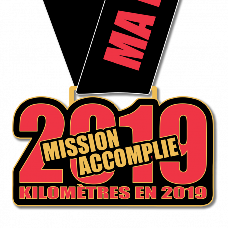 Médaille 2019km en 2019 : Mission Accomplie